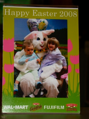 Gracie and Emma with the Easter Bunny
