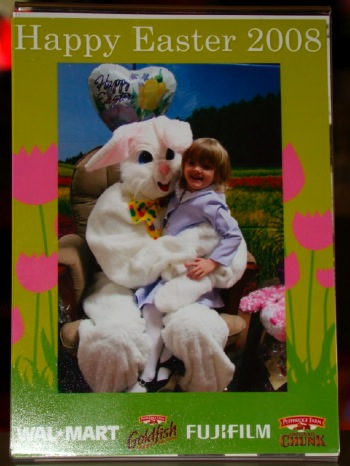 Emma with the Easter Bunny