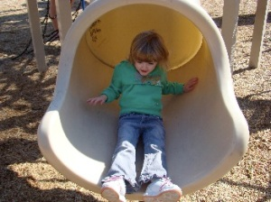 Emma on the Slide